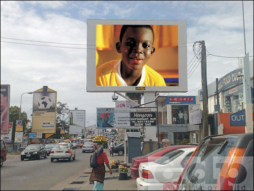 Digital Display Billboard For Rent in Accra Ghana