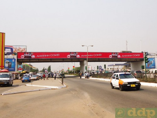 Gantry billboards for rent in Accra Ghana