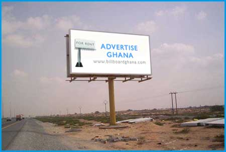 unipole billboards for rent in Accra Ghana